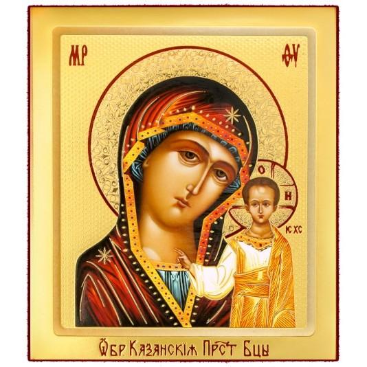 Икона на доске Казанская Б. М.