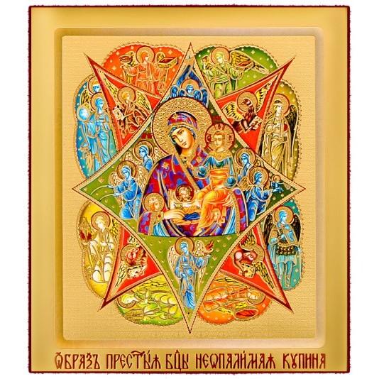 Икона на доске Неопалимая Купина Б. М.